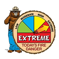 EXTREME Wildfire Danger Level